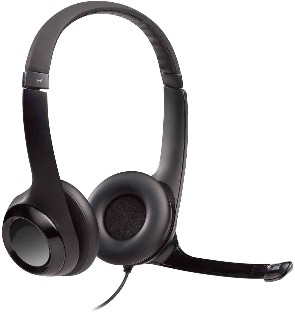 Best on-ear headset mic: Logitech USB H390