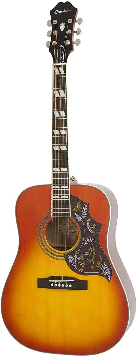 Best cheap electro-acoustic beginner guitar: Epiphone Hummingbird Pro