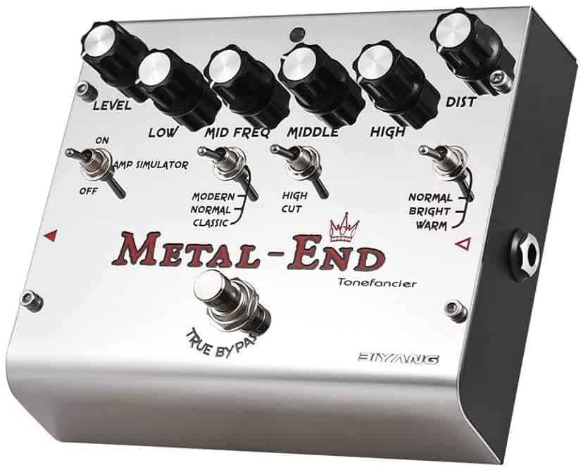 Best distortion pedal for metal: Biyang King