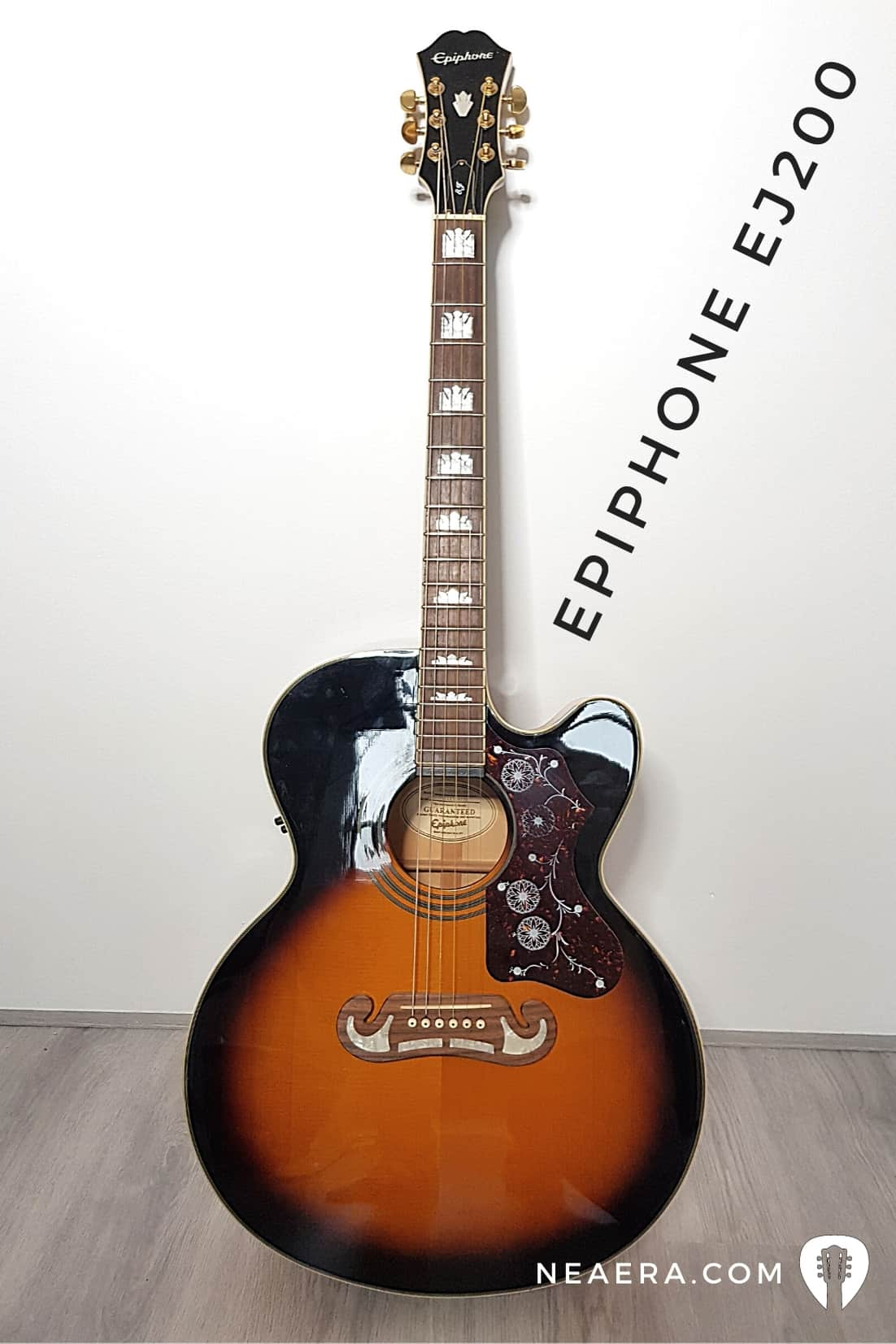 Best jumbo acoustic guitar for beginners: Epiphone EJ-200 SCE
