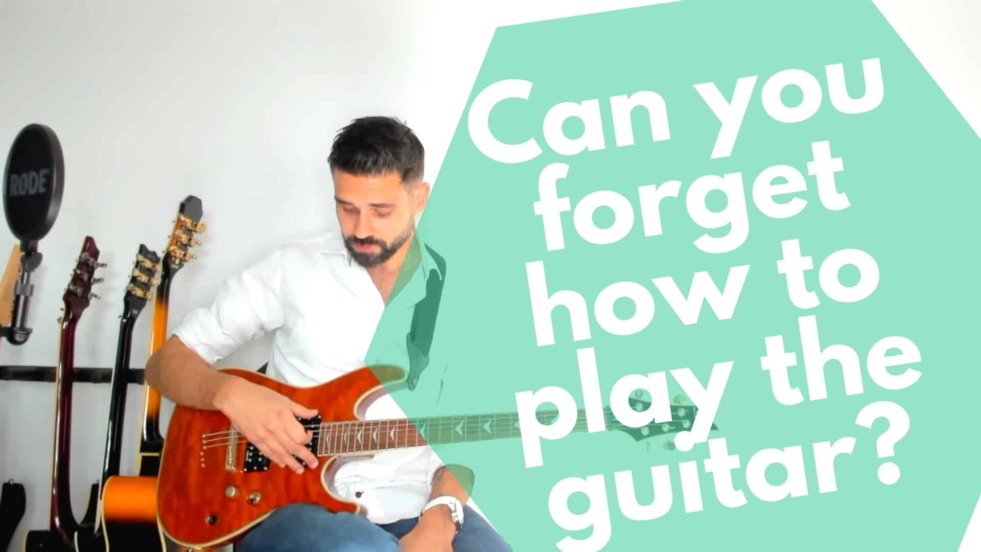 Can you forget how to play guitar? [Re] learning guitar at an older age