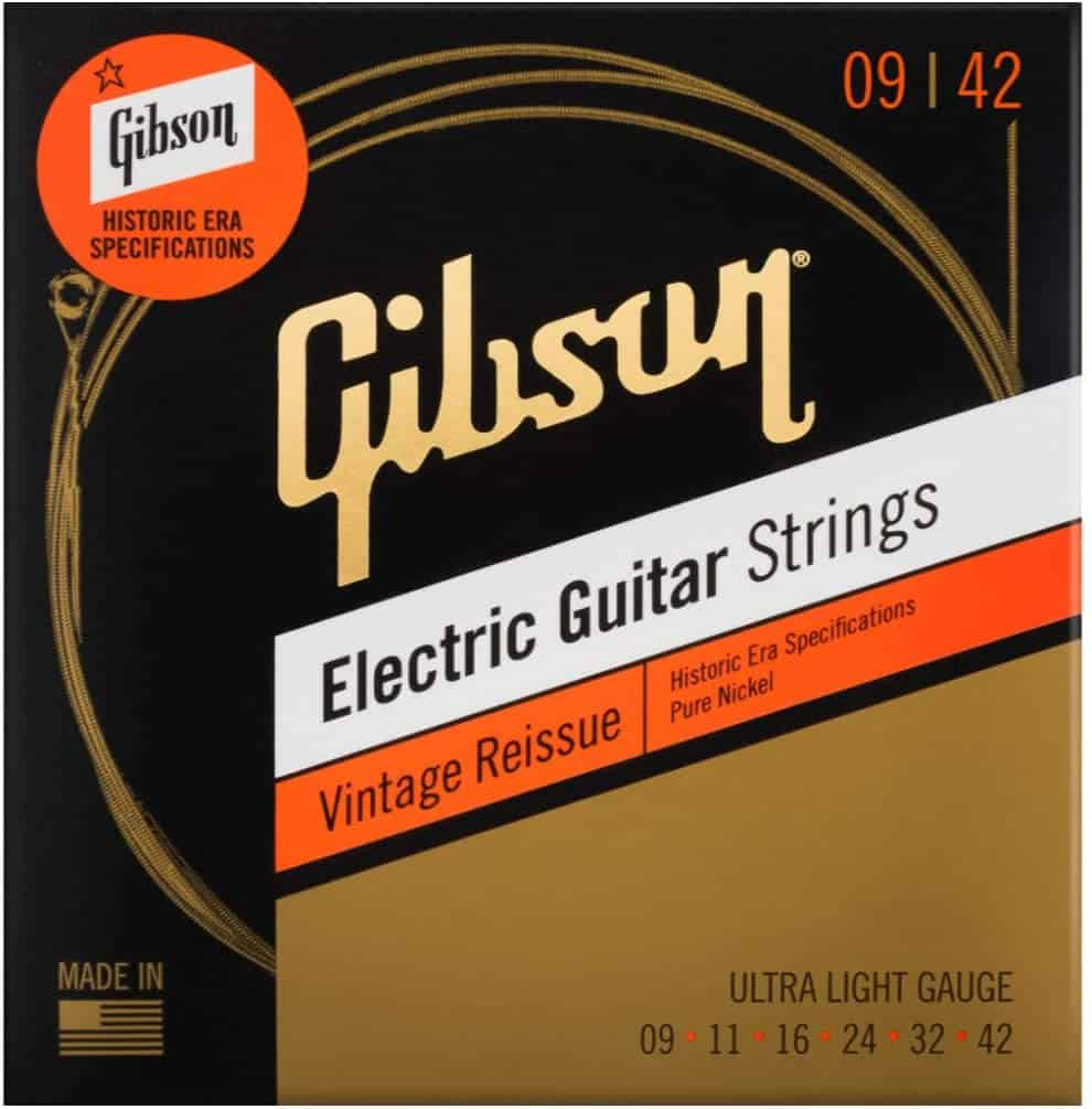 Best Classic Les Paul Sound: Gibson Vintage Reissue Electric Guitar Strings