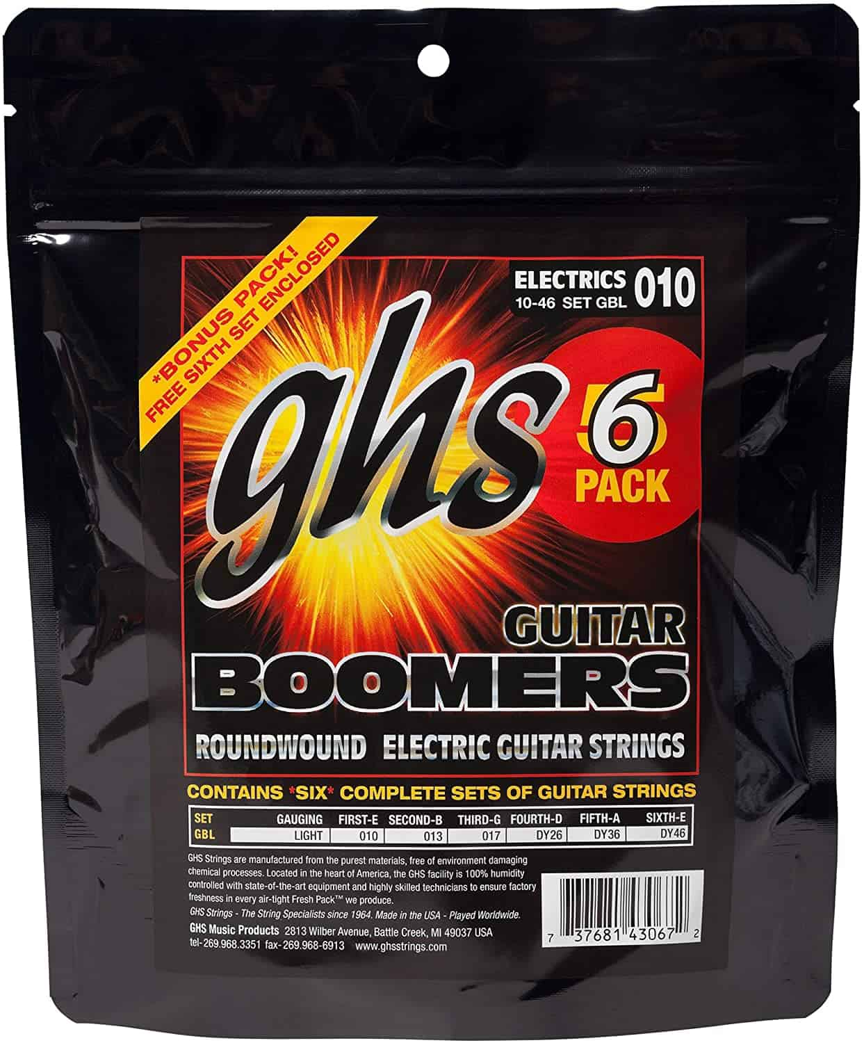 Best Mid-Range: GHS Boomers Electric Guitar Strings