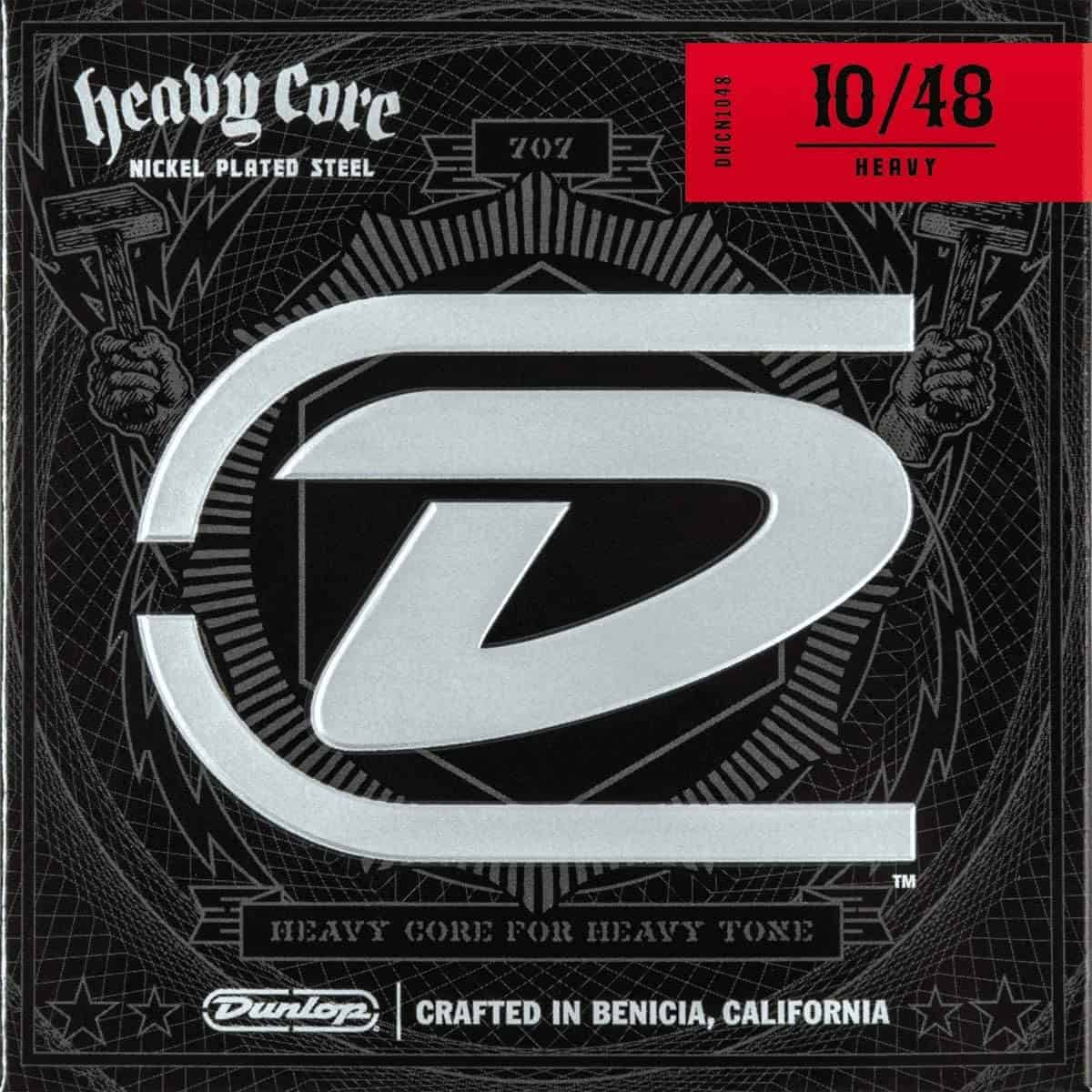 Best strings for downtuning or 7-string: Dunlop Heavy Core