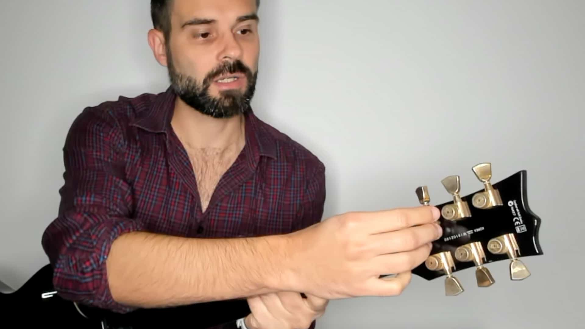 Locking tuners on a ESP Gibson style guitar