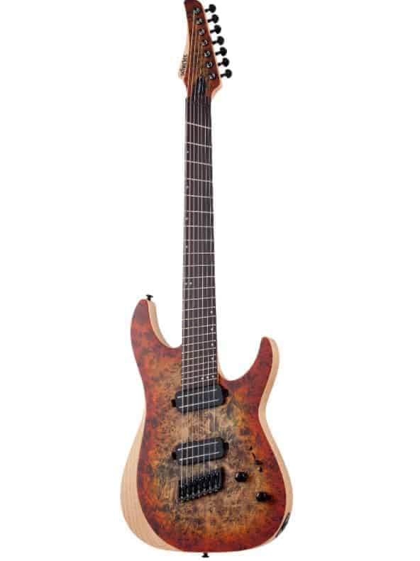 Best multiscale fanned fret guitar for metal: Schecter Reaper 7