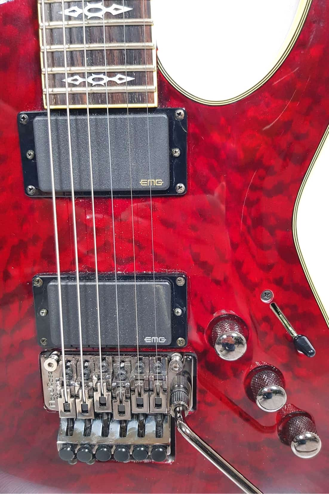 Schecter Hellraiser without the sustainiac