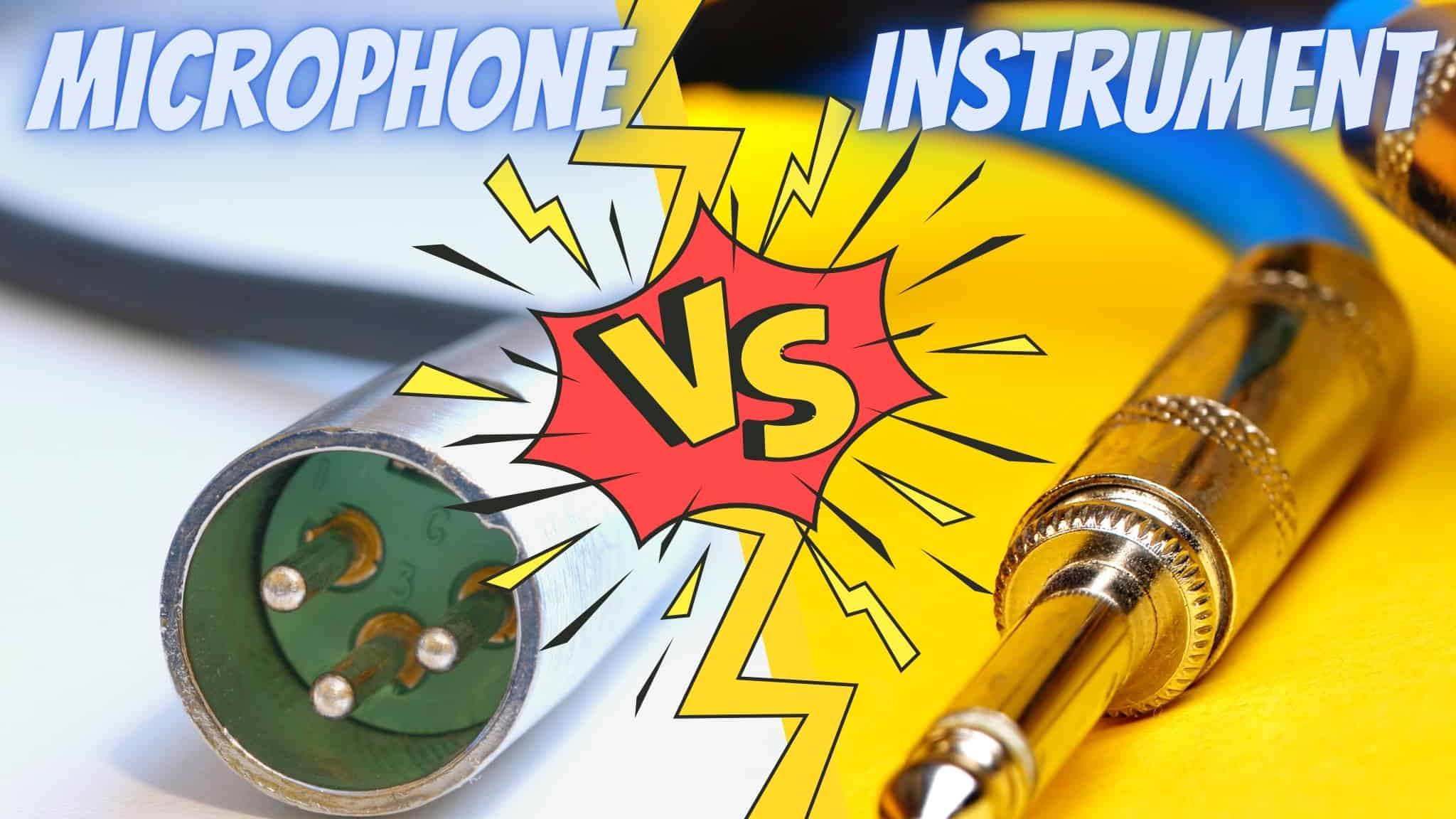 Microphone Cable vs Instrument Cable | It's All About the Level of Signal