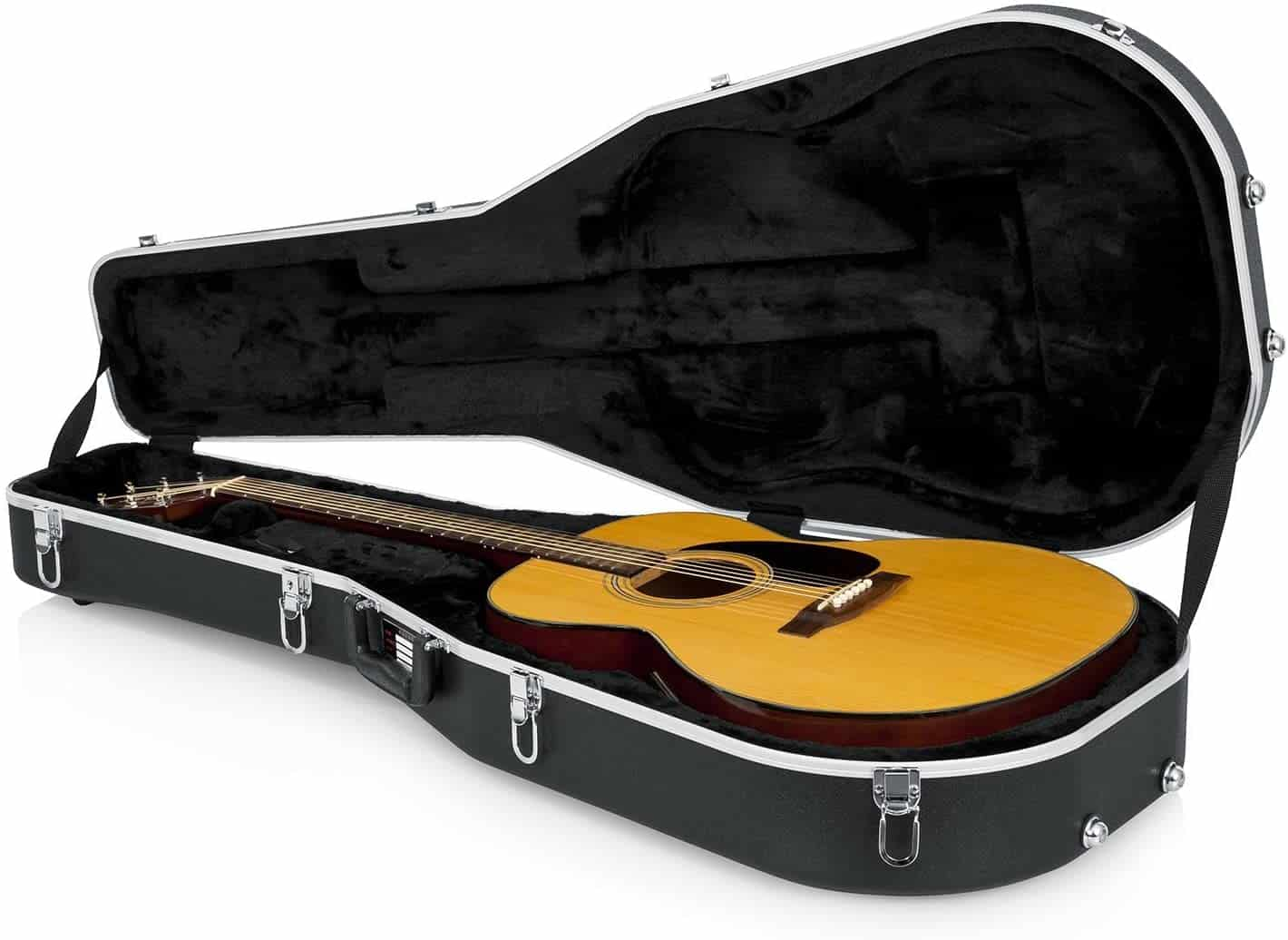Best case for acoustic guitar: Gator Cases Deluxe ABS Molded Dreadnought Style