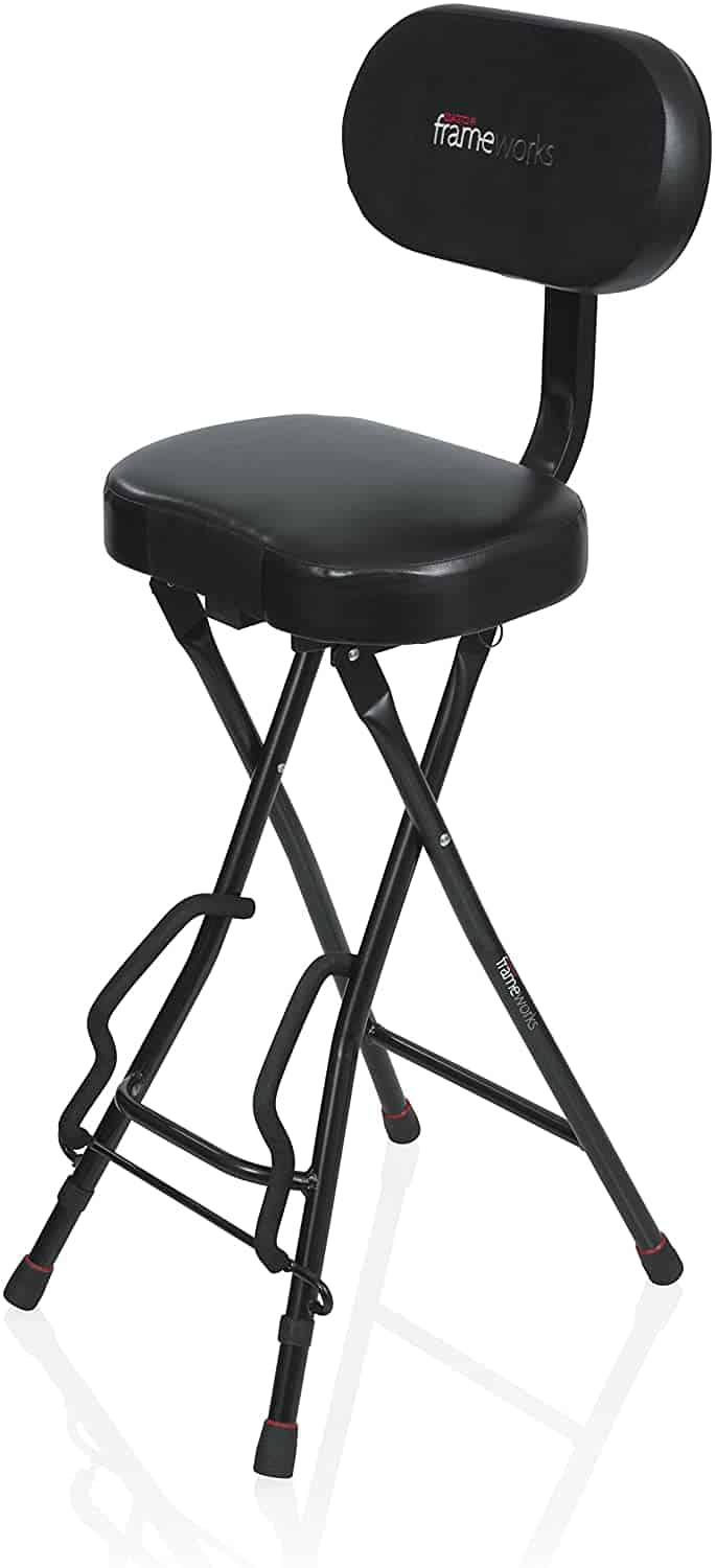Best stool with guitar stand: Gator Frameworks Seat with Fold Out Guitar Holder