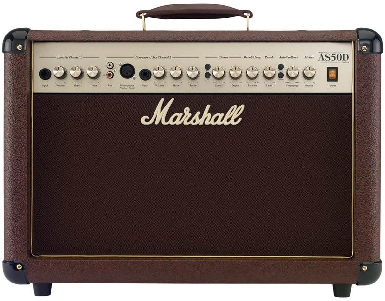 Best with mic input: Marshall AS50D