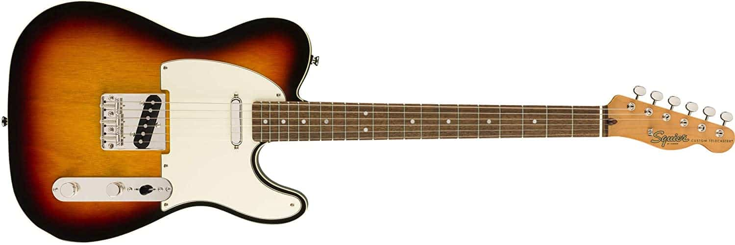 Budget electric guitar for folk music & best electric for folk-rock: Squier Classic Vibe 60's Telecaster