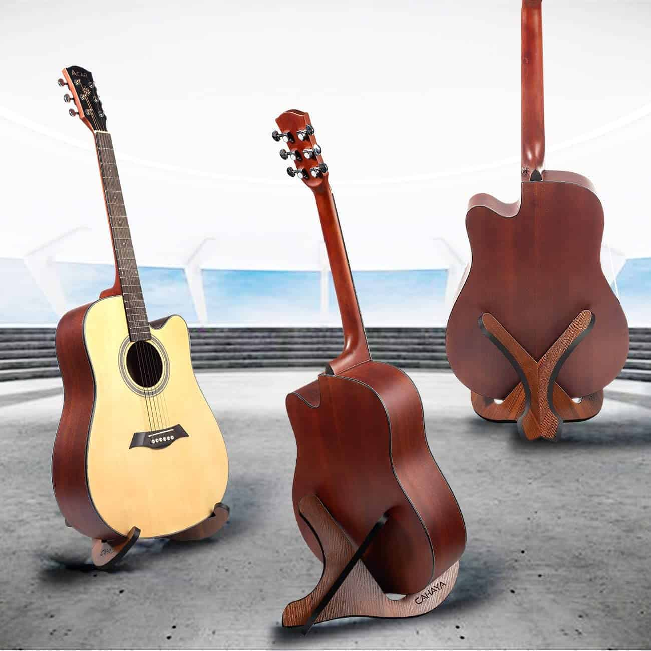 Top pick & best plywood guitar stand: CAHAYA Universal Wooden