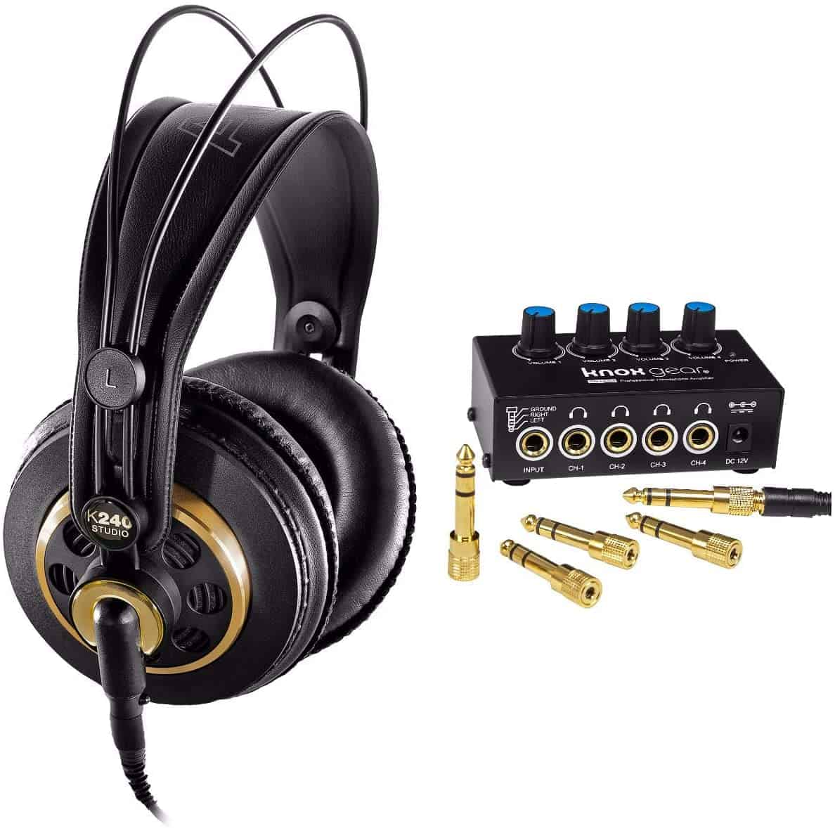 Best for under $100 & best semi-open- AKG K240 Studio with Knox Gear